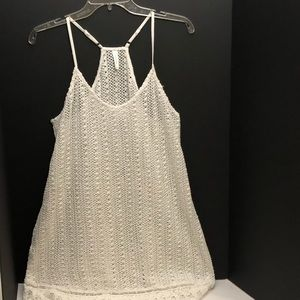 Francesca Swim Cover Crochet White Size Large
